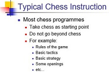 typical chess instruction