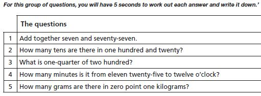KS2 mental test1